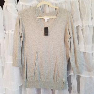Loft NWT v-neck gray sweater